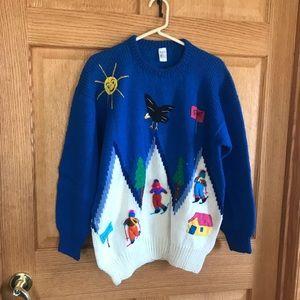 Handmade  Peru sheep wool sweater